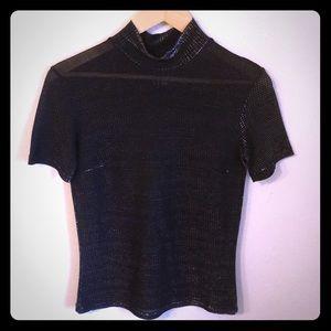 Versace sparkly Vintage 90s sheer sparkle shirt